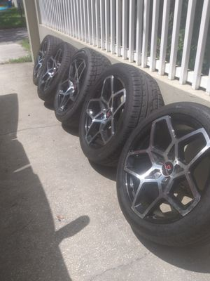 22 inch rims and tires for Sale in Tampa, FL