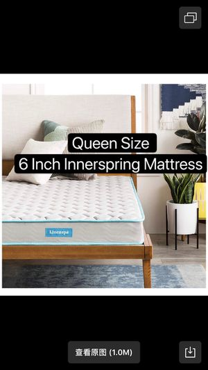 Boston Queen black bed frame and free mattress for Sale in Malden, MA