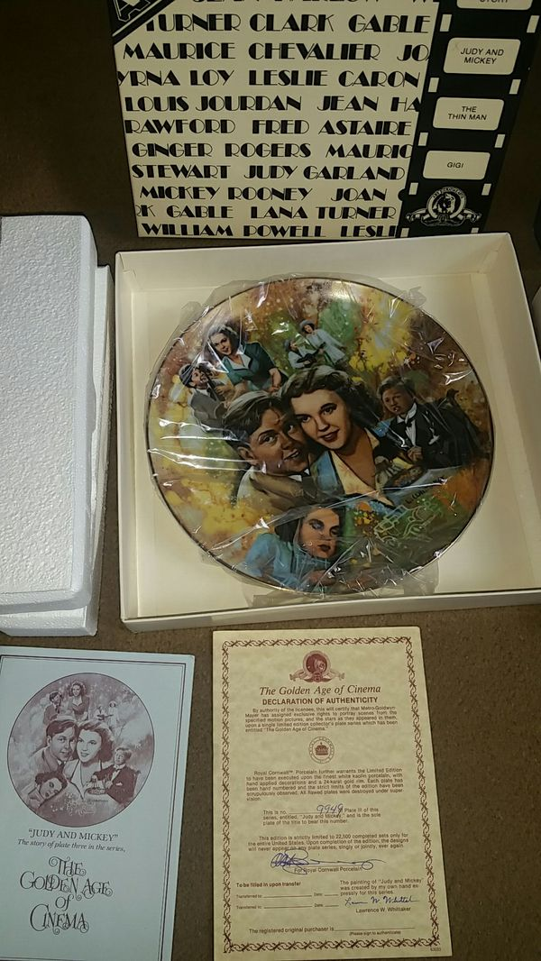 """The Golden Age of Cinema """"Gigi & Judy & Mike Collectible Plates"""