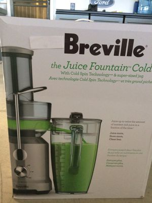 """""""Breville Juice Fountain Cold"""" juicer for Sale in Escondido, CA"""