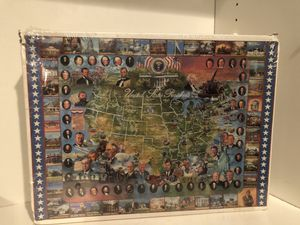 Puzzle - The United States of America's President history 1,000 piece jigsaw puzzle - family game night NIB for Sale in Phoenix, AZ