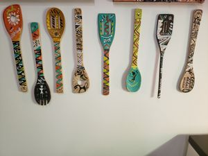Hand painted wooden spoons for Sale in Festus, MO