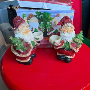 Santa Set Of 2 Tapered Candle Holders for Sale in Santa Rosa, CA