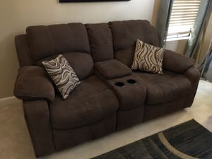 Reclining love seat and couch. Microfiber. for Sale in San Diego, CA