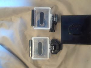 (2) go pro waterproof camera cases with detachable stand for Sale in Las Vegas, NV