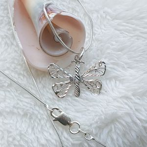 🎁 New sterling silver butterfly necklace for Sale in Pompano Beach, FL