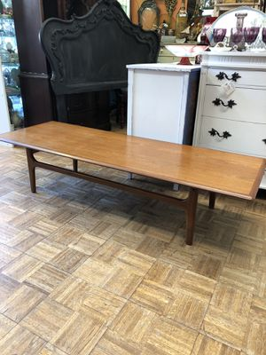 "Mid century modern coffee table danish teak 68 x 24 x 15"" for Sale in San Diego, CA"