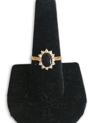 18k onyx/cz ring for Sale in Alexandria, VA
