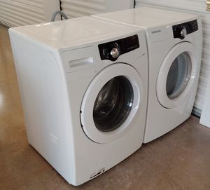 SAMSUNG VRT FRONT LOADERS WASHER AND DRYER ENERGY EFFICIENT ON SALE WITH WARRANTY AND DELIVERY AVAILABLE for Sale in Irving, TX