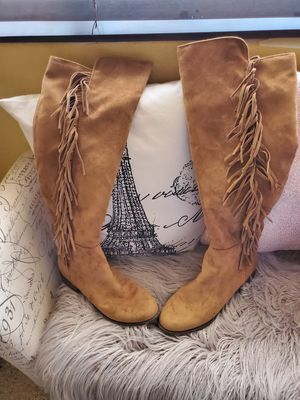 Cute fringe tall boots for Sale in Sun City, AZ