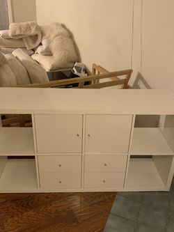 IKEA Kallax Shelf Unit With 4 Drawers And Two Doors for Sale in Los Angeles,  CA