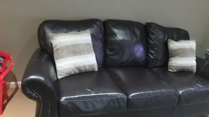 Good conditions leather sofa for sale for Sale in Allentown, PA