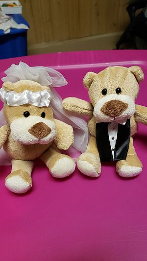 Bride and Groom Teddy Bears for Sale in Plainfield, IL