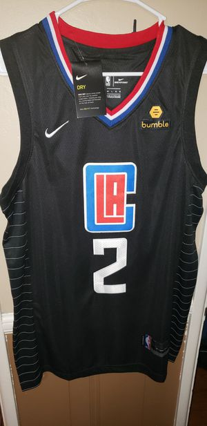 Men's Large Fitted Kawhi Leonard Los Angeles Clippers Jersey New with Tags Stiched Nike $45. Ships +$3. Pick up in West Covina for Sale in Covina, CA