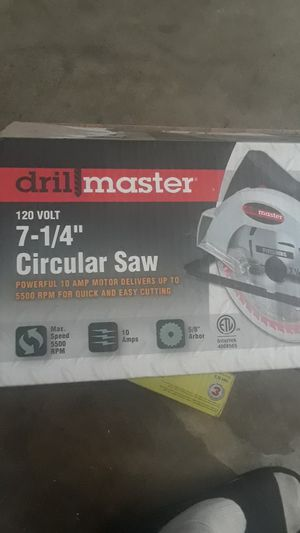 DrillMaster Circular Saw (brand new) for Sale in Rialto, CA