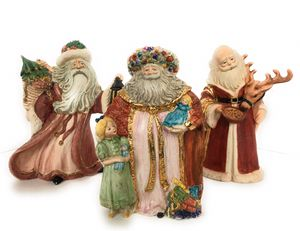 Vintage Santa clause, Noel, set of 3, ceramic for Sale in Anna, TX