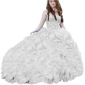 Heavy Beaded Organza Ball Gown for Sale in Rhome, TX