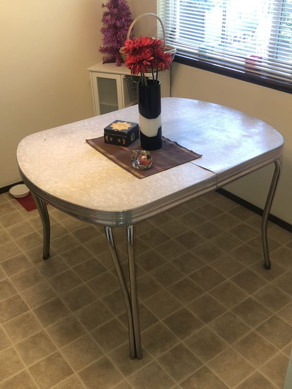 Vintage Formica and chrome dining table