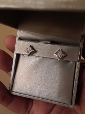 diamond earrings with yellow and white gold for Sale in Hyattsville, MD