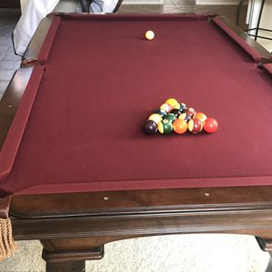 Olhausen 8ft Pool Table/ping pong table/ air hockey(with accessories) for Sale in San Diego, CA
