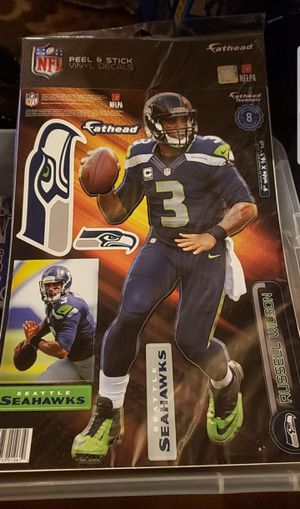 NFL Russell Wilson fat head decals for Sale in Federal Way, WA