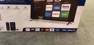 """TCL 4K 55"""" smart TV ROKU! NEW OPEN BOX!! 📺📺📺📺 IB9HY for Sale in Houston, TX"""