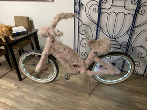 Pink fur bike with light rims (burning man) for Sale in Upland, CA
