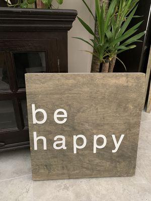 "22"" x 22 1/2"" ""be happy"" wall art for Sale in Pompano Beach, FL"