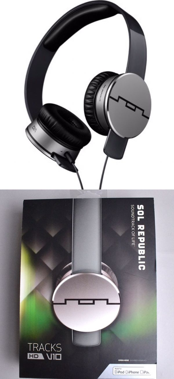 New in box Sol Republic Tracks HD V10 headphone headset works for IOS ipad iphone android Amazing Sound m