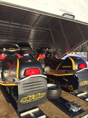 2 Ski-doo snowmobiles AND trailer for Sale in Medford, MA