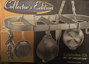 """$69 OBO Calphalon Collectors Edition ** NEW IN BOX ** 18"""" x 36"""" CEILING HANGING OVAL POT RACK for Sale in Glendale, AZ"""