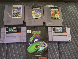 Teenage Mutant Ninja Turtles NES and SNES for Sale in Chicago, IL