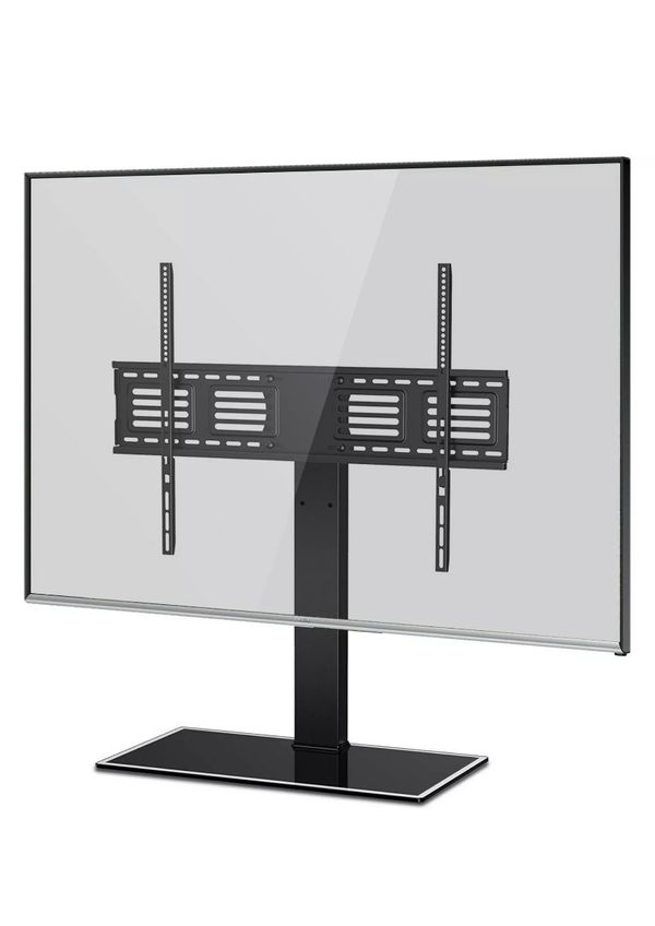 FITUEYES Universal Tabletop Swivel TV Stand Base for 50 to 80 inch TV TT107003GB
