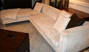 Sectional Couch - 2pc White Microfiber- Free Delivery for Sale in Marietta, GA