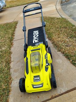 LAWN MOWER RYOBI 40V LITHIUM WORKING VERY WELL ((NOT INCLUDE BATTERY AND CHARGER for Sale in Houston,  TX