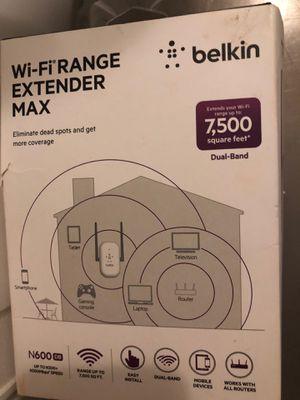 Brand new Belkin wifiExtender Max dual band extend WiFi range 7500 sq feet for Sale in Myrtle Beach, SC