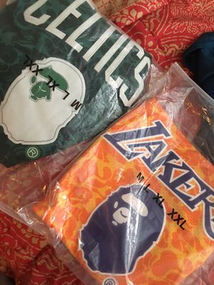 Bape jersey lakers Celtics for Sale in Grand Prairie, TX