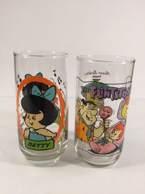 Flintstones Glasses (2) for Sale in Indianapolis, IN