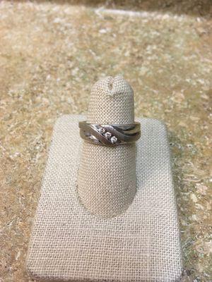 10KSR Men's White Gold Wedding Ring with 3 diamonds for Sale in Chandler, AZ