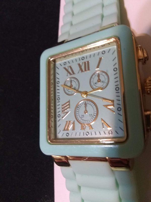 NWT!! Mint green rectangular face wristwatch
