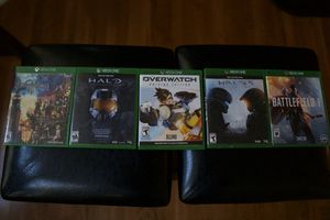Xbox 1 Video Games- Halo 5, Halo master chief collection, Kingdom Hearts 3, Overwatch, battlefield 1 for Sale in District Heights, MD