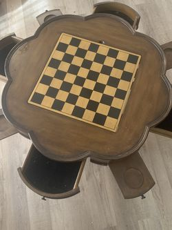 Old Style Poker Table With Chairs for Sale in Pekin,  IL