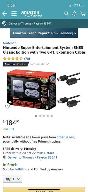 Super Nintendo Classic Edition for Sale in Payson, AZ