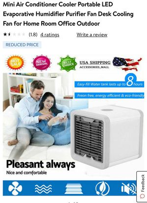 Mini Air Conditioner Cooler Portable LED Evaporative Humidifier Purifier Fan Desk Cooling Fan for Home Room Office Outdoor for Sale in Federal Way, WA