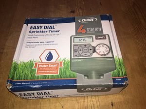 Orbit 4-Station Easy Dial Indoor Sprinkler Timer - $20 for Sale in Marietta, GA