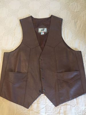 Brown leather jacket, size large for Sale in Fairfax, VA