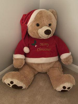 Giant Christmas Teddy Bear Stuffed Animal for Sale in Virginia Beach, VA