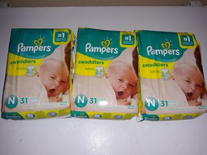 Pampers Swaddlers Newborn Diapers for Sale in Portland, OR
