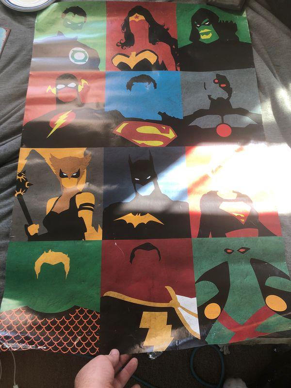 Superhero posters ( 1 metal )