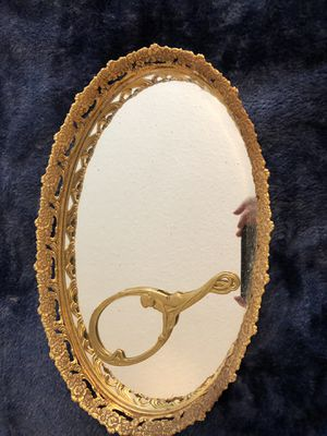 Antique mirrored vanity tray and hand mirror for Sale in West McLean, VA